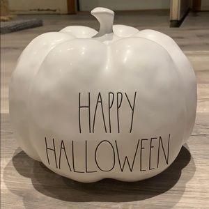 Rae Dunn Happy Halloween large ceramic pumpkin